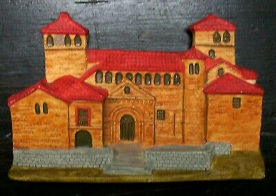 VINTAGE 6 X4  PLASTER PLAQUE -SPANISH CHURCH Suitable For DIORAMA Model Railway • 5.06€