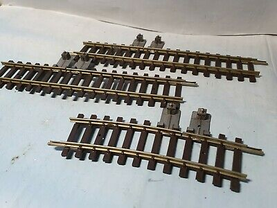3x Hornby Dublo Isolating Tracks, 2x Straight 1x Curved - 1960s Two Rail System • 1.69€