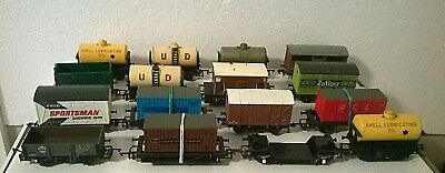 Job Lot Of 16 Used Goods Wagons. All Runners With Buffers & Couplings Oo • 41.63€