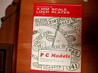 Catalogue Of 4mm Scale Loco Plates / Train • 6.74€