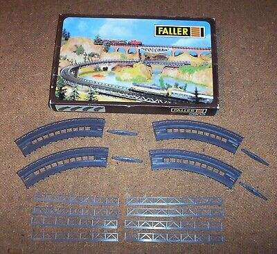 Faller. 2903. 4 Curved Bridge Ramps. Boxed, Unused. Complete & Checked. • 17€