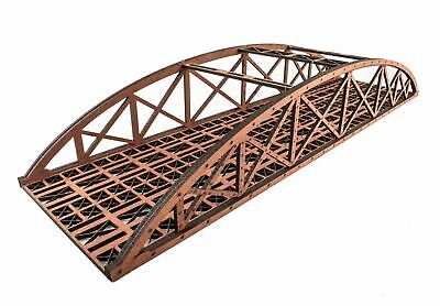 WWS Double Track Hi-Detail Red MDF Bowstring Bridge 400mm – OO/HO Model Railway • 19.65€