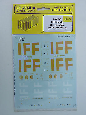 =C-Rail=Pack 5 - OO Gauge Transfers IFF For 30' Bulktainers • 5.56€
