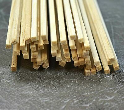 WWS Balsa Wood Strips 3.2 X 3.2 X 305 Mm (1/8 X 1/8 X 12 Inch) - 45 Pack – Model • 10.94€