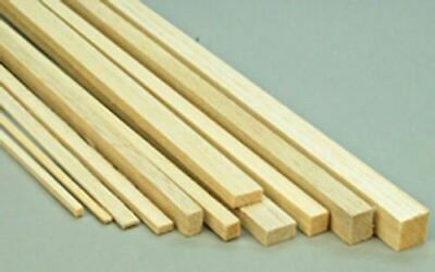 WWS Balsa Wood Strips 6.5 X 6.5 X 305 Mm (1/4 X 1/4 X 12 Inch)  - 45 Pack • 13.77€
