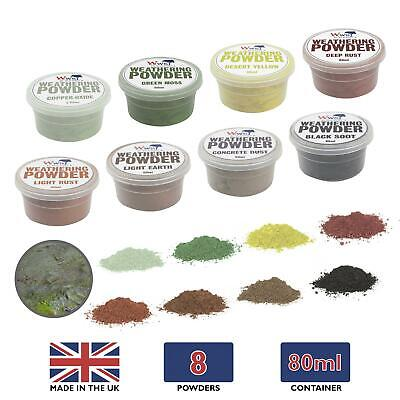 WWS Model Weathering Powders 80ml Tub – Railway Diorama Wargame Landscape Effect • 22.59€