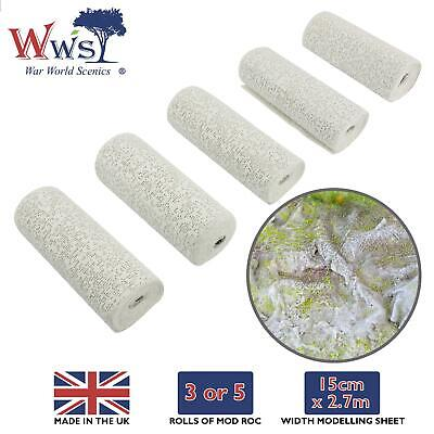 WWS Model Mod Roc Plaster Cloth - Modelling Sheet Railway Diorama Landscape • 10.16€