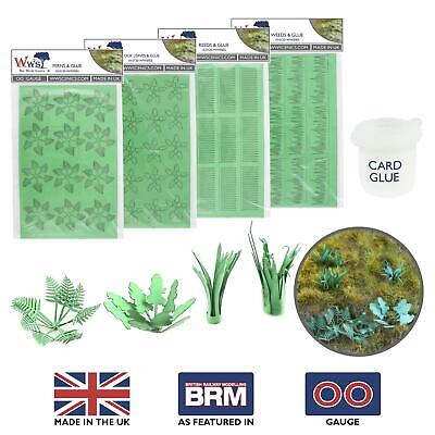 WWS Laser Cut Card Plants With Glue (Choose Plant Type) – OO/HO Model Diorama • 11.22€