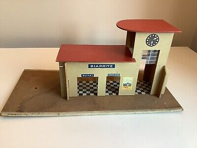 Vintage Early French Hornby O Gauge Biarritz Wooden Station • 39.30€