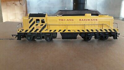 Triang Oo Gauge R155 Yellow Bo-bo Diesel Switcher 7005 Runs Well Nice Condition • 44.92€