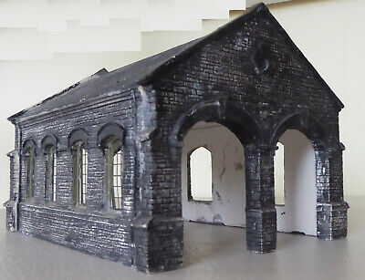 Stone Effect Double Engine Shed, For Model Railway. OO Gauge • 11.23€