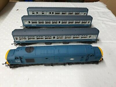 Hornby Class 37 Diesel 37130 BR Blue For Model Railways Train Sets &3 Carriages  • 39.31€