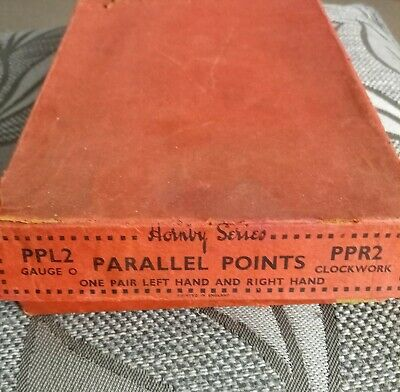Vintage 1925/1939 2 X Hornby Parallel Points O Gauge In Box • 28.91€