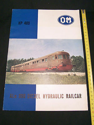 OM ALn 990 FS DEPLIANT ORIGINALE 1968 TRENO TRAIN BROCHURE • 28€