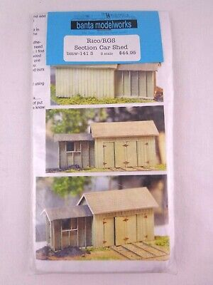 Railway S Scale Banta Modelworks Model Kit Scenery Rico/RGS Section Car Shed • 59.77€