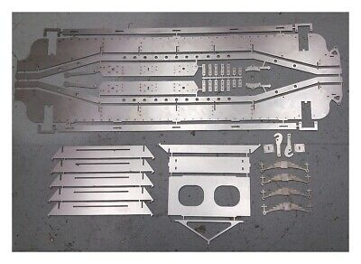 7 1/4  G - GWR Loriot Well Wagon Laser-cut Chassis Parts • 272.26€