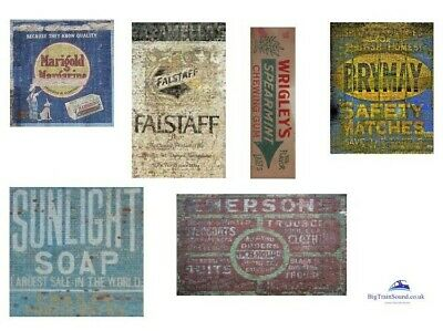 O Scale Ghost Advertising Signs (British) - Waterslide Transfers • 7.49€