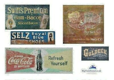 O Scale Ghost Advertising Signs (North American) - Waterslide Transfers • 7.49€