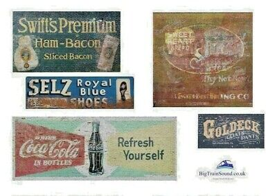O Scale Ghost Advertising Signs (North American) - Waterslide Transfers • 7.65€