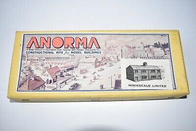 Vintage 00 GAUGE Anorma  Un-built Balsa Wood Kit Of Semi Detached Houses • 28.13€