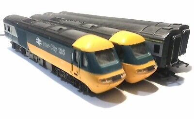 Hornby Hst Class 43 Blue/grey Set Led Headlights + Coaches Fitted With Lights • 56.15€