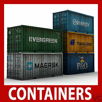 N Scale, N Gauge Model Shipping Container Card Kits X 12 Mixed 40ft/45ft   • 9.08€