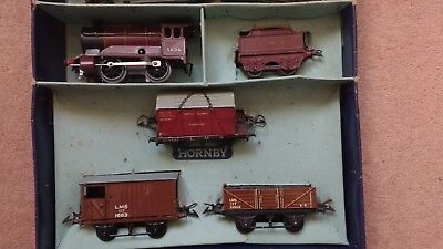 Vintage Hornby O Guage No. 501 LMS Goods Train Set With Box • 166.46€