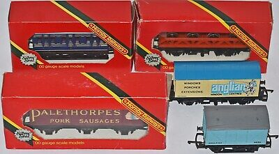 (910) Hornby 5 Pieces Of Rolling Stock, Wagons (used) • 38.05€