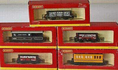 (948) 5 Hornby Rolling Stock, Wagons, Oo Gauge Used, Boxed • 37.98€