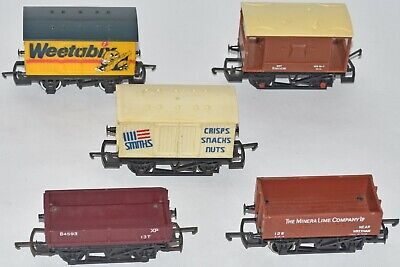 (1041) 5 Pieces Of Hornby Rolling Stock, Wagons, Used • 30.62€