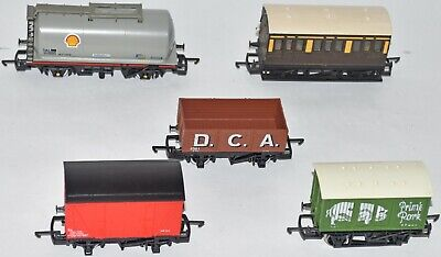 (1042) 5 Pieces Of Hornby Rolling Stock, Wagons Used • 30.62€
