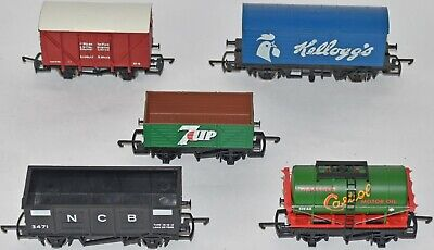 (1044) 5 X Hornby Rolling Stock, Wagons, Used • 30.62€