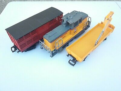 Train Electrique New Ray - Union Pacific 505 à Piles - 1 Motrice Et 2 Wagons • 20€