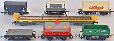 (1105) 7 Pieces Of Hornby Rolling Stock, Wagons, Pre-owned • 33.52€