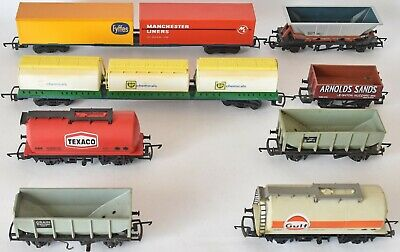 (630) 8 X Hornby-triang Rolling Stock Wagons (used) • 33.52€