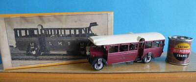 Boxed Keyser (K's) OO/HO Kit Built - Motorised LMS Karrier 'Ro-Rail' Bus / Coach • 18.50€