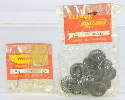 TRIANG TT 12x ST1066 WHEELS IN SEALED PACK & 1x ST4000 AXLE & WASHER • 11.25€