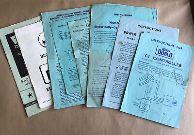 Selection Of Hornby Dublo Railway Instruction Leaflets And Booklets • 3.34€