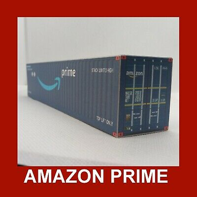 Amazon Prime Collection Model Rail Freight Shipping Containers X12 N Gauge 1:160 • 10.16€