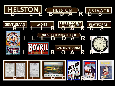 GWR STATION SIGNS  1950s / 1960's    Your Name Choice Etc   **NEW SET ** • 3.26€