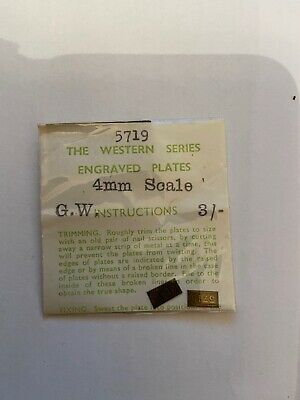 Western Series Engraved Plates. GW. 4mm Scale. No. 5719. 1950's/60's. • 5.60€