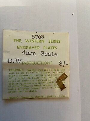 Western Series Engraved Plates. GW. 4mm Scale. No. 5708. 1950's/60's. • 5.60€