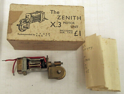Tri-ang Super Twelve / Zenith X3 Motor & Gearbox  GEM & ERG Recommended! • 1.14€
