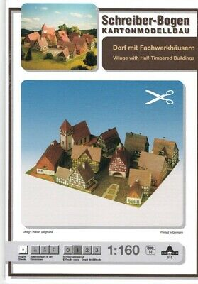 Card Model Kit – German Village With Half-Timbered Houses  • 15.58€