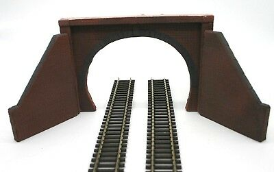 2 X Detailed Model Railway Double  Track Tunnel Entrance For HO / OO New 03 • 6.77€