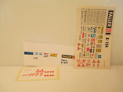 Faller 3 Original Decals Sheets Planche Decalques Originales Ho O L@@k  • 12€