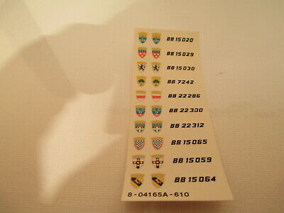 Original Decals Sheet Railway Engines Decalques Originales Locomotives Jouef Ho  • 10€