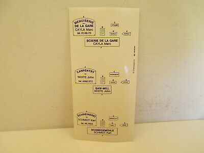 Original Decals Sheet Railway Station Scenery Decalques Originales Decors Ho O  • 8€