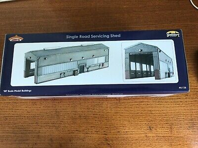 Bachmann Scenecraft 44-126 Single Road Servicing Shed OO Gauge Boxed • 81.87€