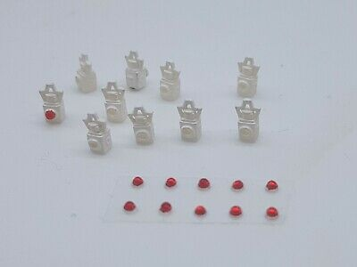 10 X OO Gauge Tail Lamps Model Railway White 03 • 5.46€